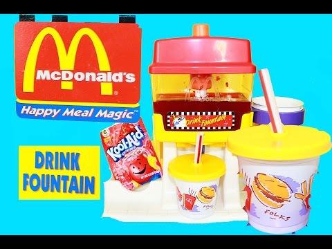 McDonalds Happy Meal Magic DRINK FOUNTAIN Playset Toy Kool Aid Fun Kids Video
