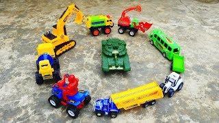 Máy Xúc, Xe Tăng, Xe Ô Tô Tải, Xe Bus, Xe Đua Cho Bé | Truck Excavator for children