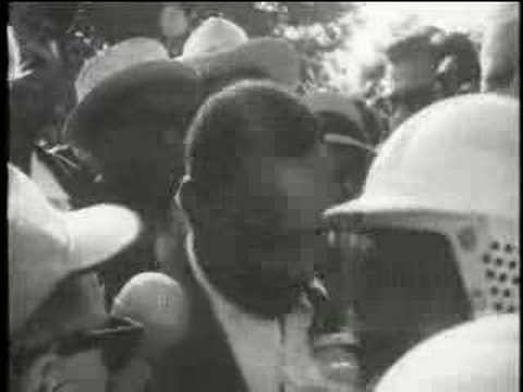 Archive Footage - Black & White - Dr. King being stoned in broad daylight in Gage Park, Chicago, on August 5, 1966. For this and more footage visit: http://m...