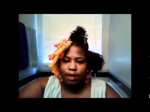 Curlformers on Short Natural Hair 4c Curlformers on Natural Hair 4b