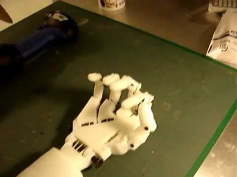 "Animatronic Hand Robot 3D printer ""InMoov"" Part1"