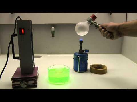 24 Tage - 24 Experimente: 24. Dezember - der Fluoreszenz-Springbrunnen