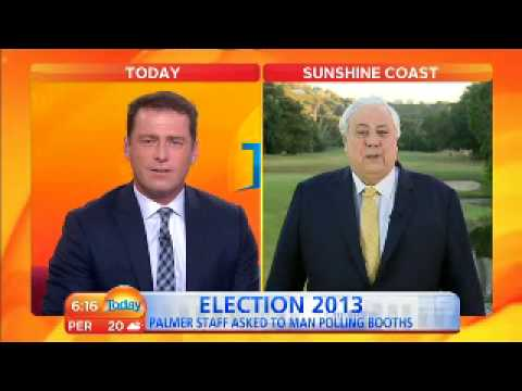 Clive Palmer with Karl Stefanovic Today Show Nine Digital 0615
