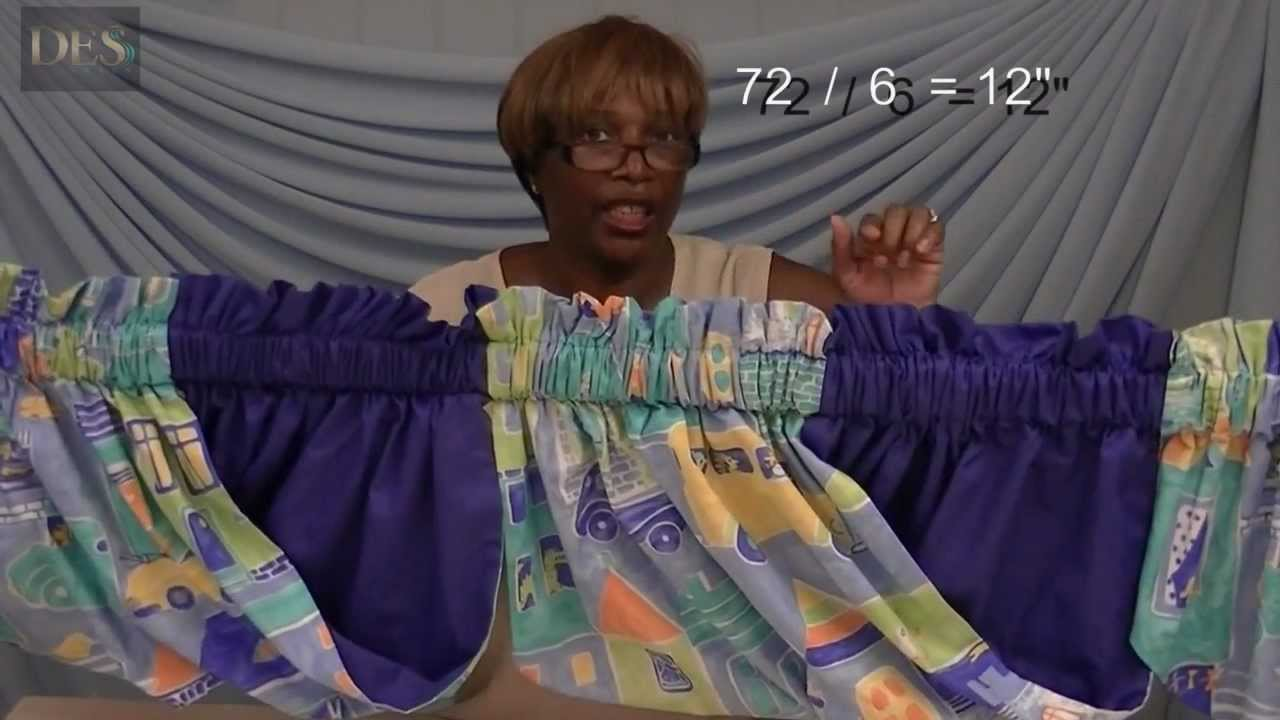 How to make Swags Valance - YouTube