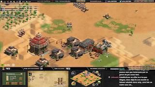 AGE OF EMPIRES 2 - EXPERT PLAYERS - VILLESE vs RUBENSTOCK - 1v1 Arabia