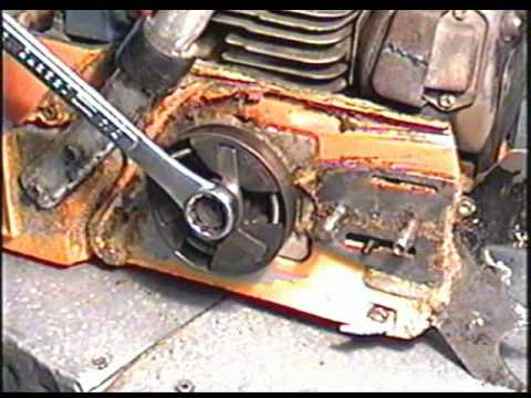 HUSQVARNA 288XP CHAINSAW HOW TO: CLUTCH & DRIVE SPROCKET REMOVAL & INSTALLATION