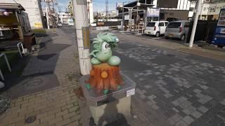 ?4K?Walking from Ishinomaki station to Manga museum and pier