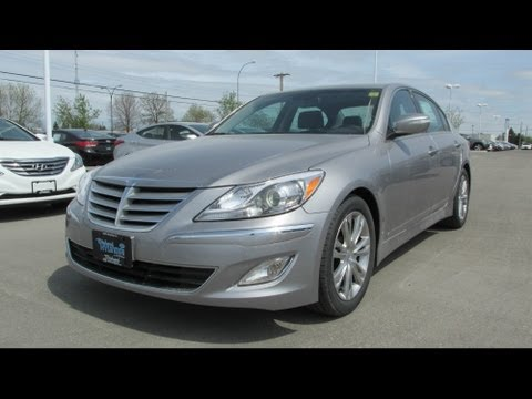 2013 Hyundai Genesis Sedan Premium Start up, Walkaround and Vehicle Tour