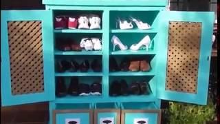 Mẹo vặt (Tips) Số thứ nhất : Cách làm tủ đựng giày tuyệt đẹp từ bìa cát tông