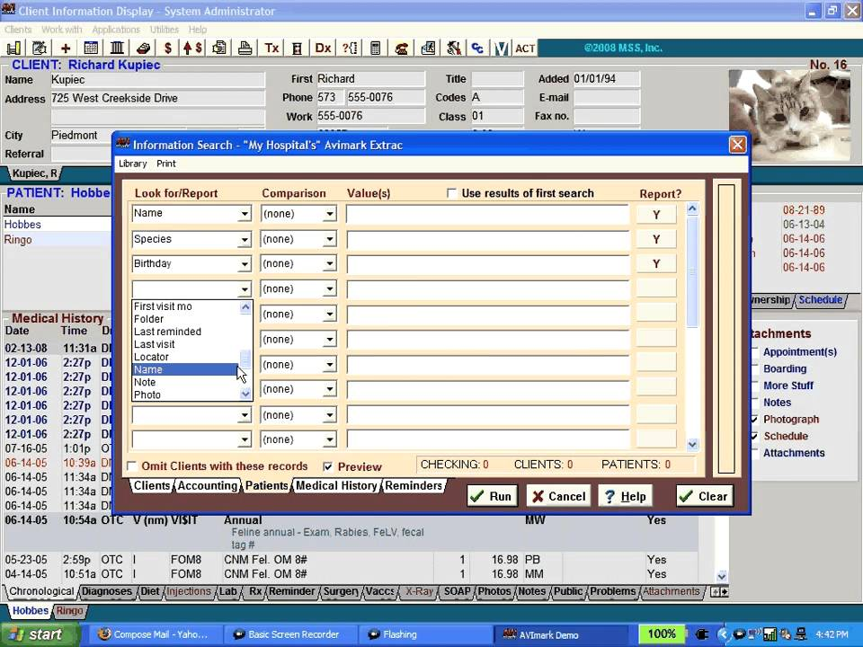 how to put avimark inventory in excell