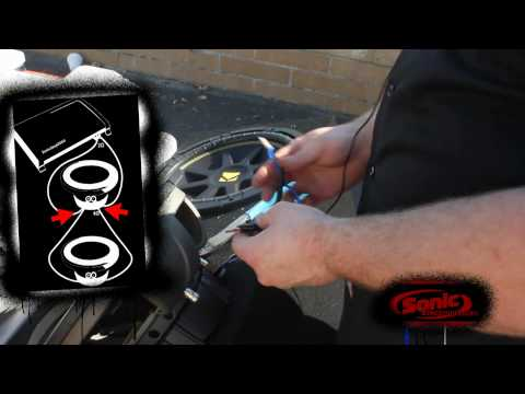How to Install Two Single 4 Ohm Car Subwoofer with a 2 Ohm Impedance