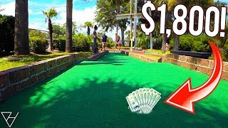 Mini Golf Hole In One Challenge! - Win $1800 With A Hole In One!