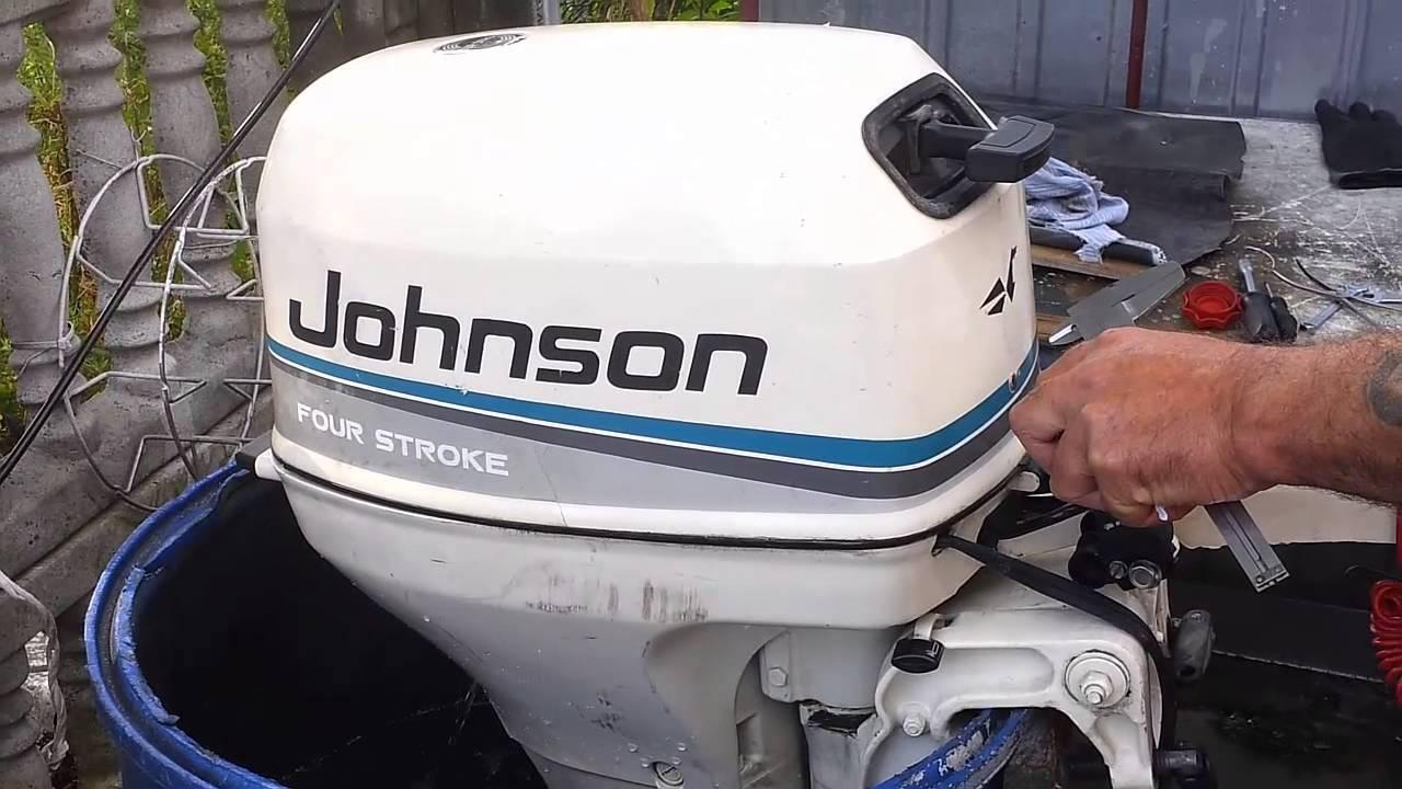 1999 Johnson 8 Hp Outboard Motor 4 Stroke 4 Suw Youtube