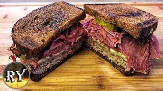 Grilled Pastrami Patty Melt