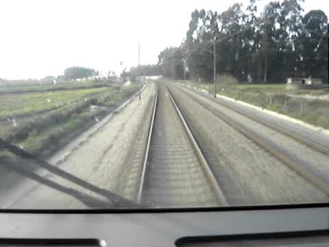 CPA 4000 a 220 km/h entre Quintãs e Aveiro (linha do Norte).