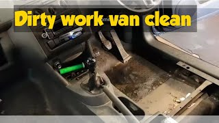 Cleaning a really dirty work van vw caddy