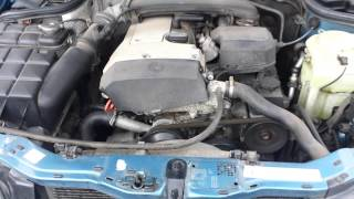 MERCEDES-BENZ C180 W202 1.8 LITER ENGINE STARTING, RUNNING, EXHAUST SOUND