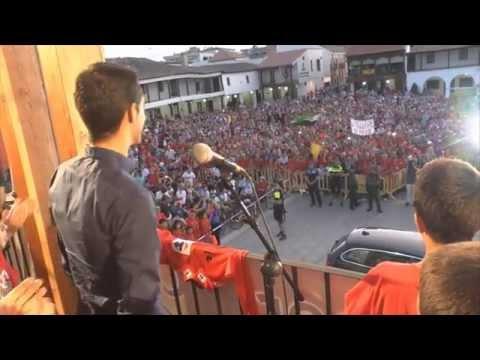 Alberto Contador Vuelta 2014 Recibimiento en Pinto