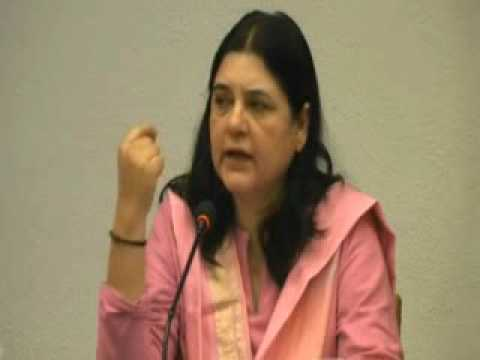 Maneka Gandhi getting her point across
