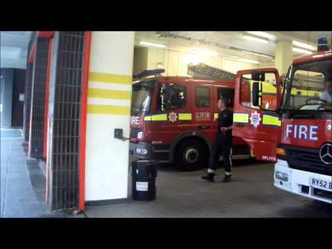 London Fire Brigade - A241 Soho Pump Ladder Turnout