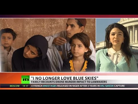 """""""I no longer love blue skies"""": Drone strike victims testify before Congress"""