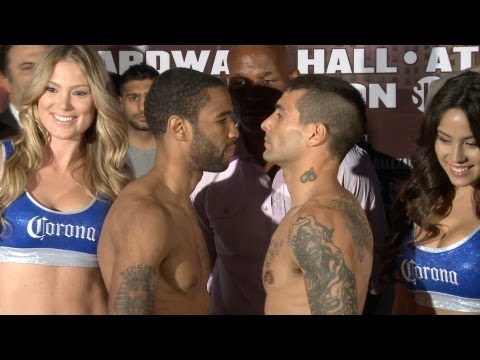 Showtime Boxing  Weigh In Lamont Peterson vs Lucas Matthysse  Devon Alexander Lee Purdy SHOWTI