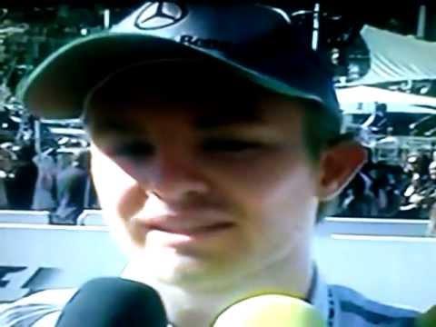 NIco Rosberg - GP Mónaco 2013 entrevista en Español