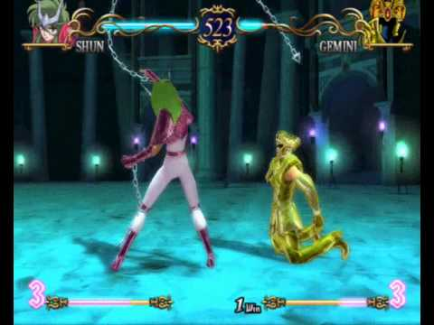 Saint Seiya: The Hades - Ps2 - Shun Vs. Gemini