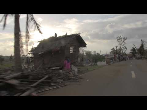 "Thumbnail for video ""Typhoon Haiyan - On the road, driving past total destruction """