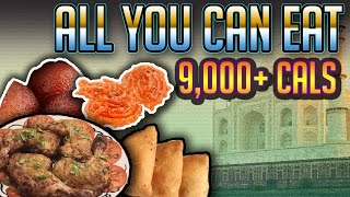 9000+ Calorie Cheat Meal   All you can eat Indian buffet   Food Challenge