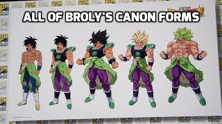 All of Broly's New Forms and Transformations (2018)