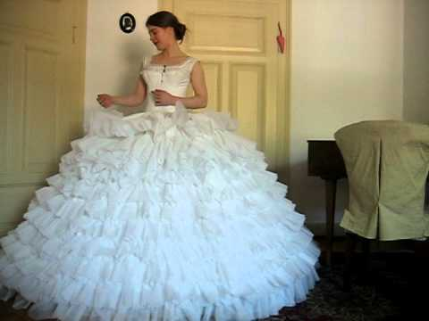 Crinoline with petticoat