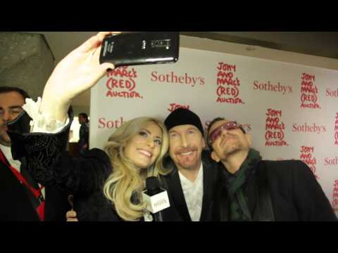 ITM CELEBRITY SELFIE With Bono and the Edge, Nick Cannon and the cast of La Soiree Presented by LG