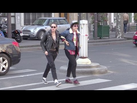 EXCLUSIVE - Kristen Stewart and girlfriend Soko running errands in Paris