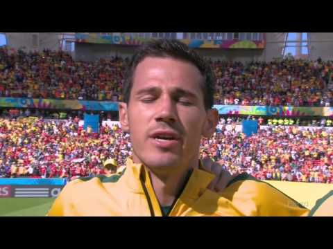 Australia vs Netherlands National Anthems - World Cup 2014