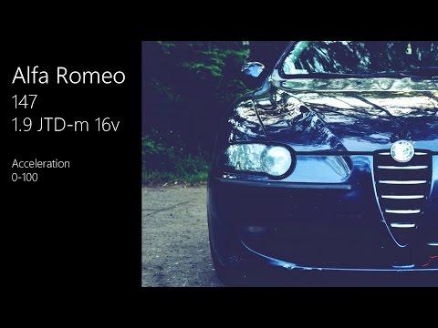 Alfa Romeo 147 1.9 JTD-m 16v acceleration 0-100