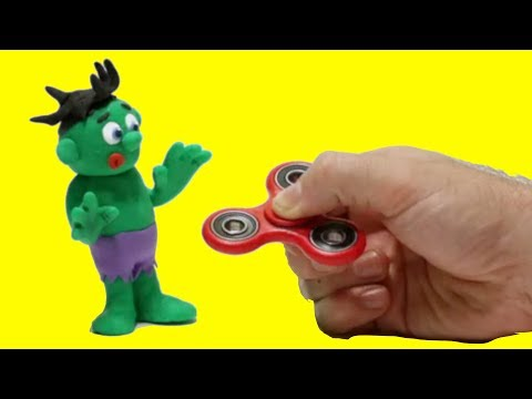 Baby Hulk & Spinner 💕 Play Doh Stop motion videos for children