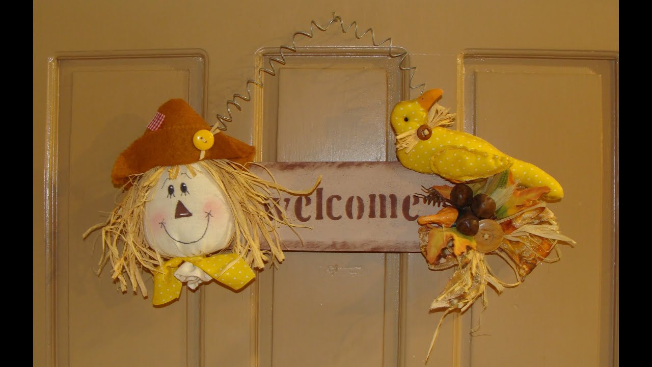 Diy espantapajaros country de oto o country fall for Decoraciones de hogar