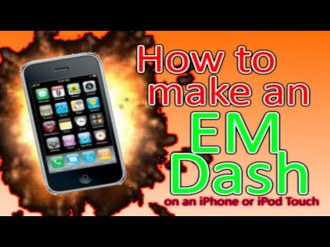 How to make an EM Dash on an iPhone