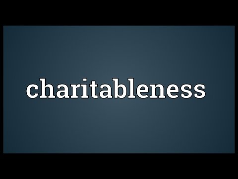 Header of charitableness