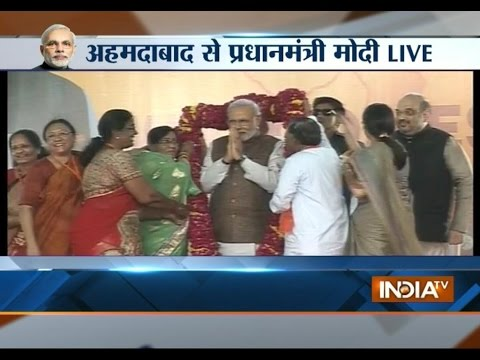 PM Modi addressing Public Live from Ahemdabad Exclusive