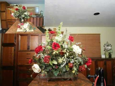 Silk Floral Arrangements Design - Refurbishing an old worn out arrangement