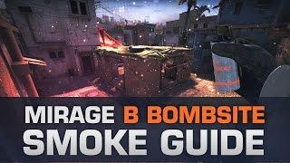 CS:GO Mirage - B Bombsite smoke guide