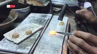 Cận cảnh quy trình thủ công làm chiếc nhẫn 2 chỉ vàng