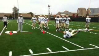 Notre Dame defensive backs drill, 10/20/09