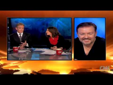 Ricky Gervais talks to CNN - Amazing Interview!!