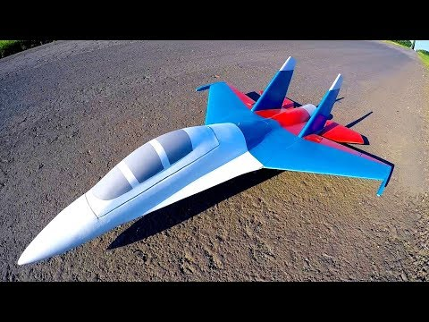 Импеллерная модель самолёта - запуск без шасси