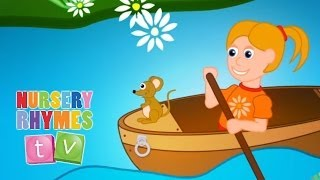ROW ROW ROW YOUR BOAT | Nursery Rhymes TV. Toddler Kindergarten Preschool Baby Songs.
