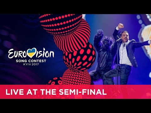 Francesco Gabbani - Occidentali's Karma (Italy) at the first Semi-Final