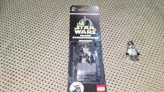 Lego Star Wars Chrome Silver Stormtrooper Magnet Set - Exclusive Anniversary Edition